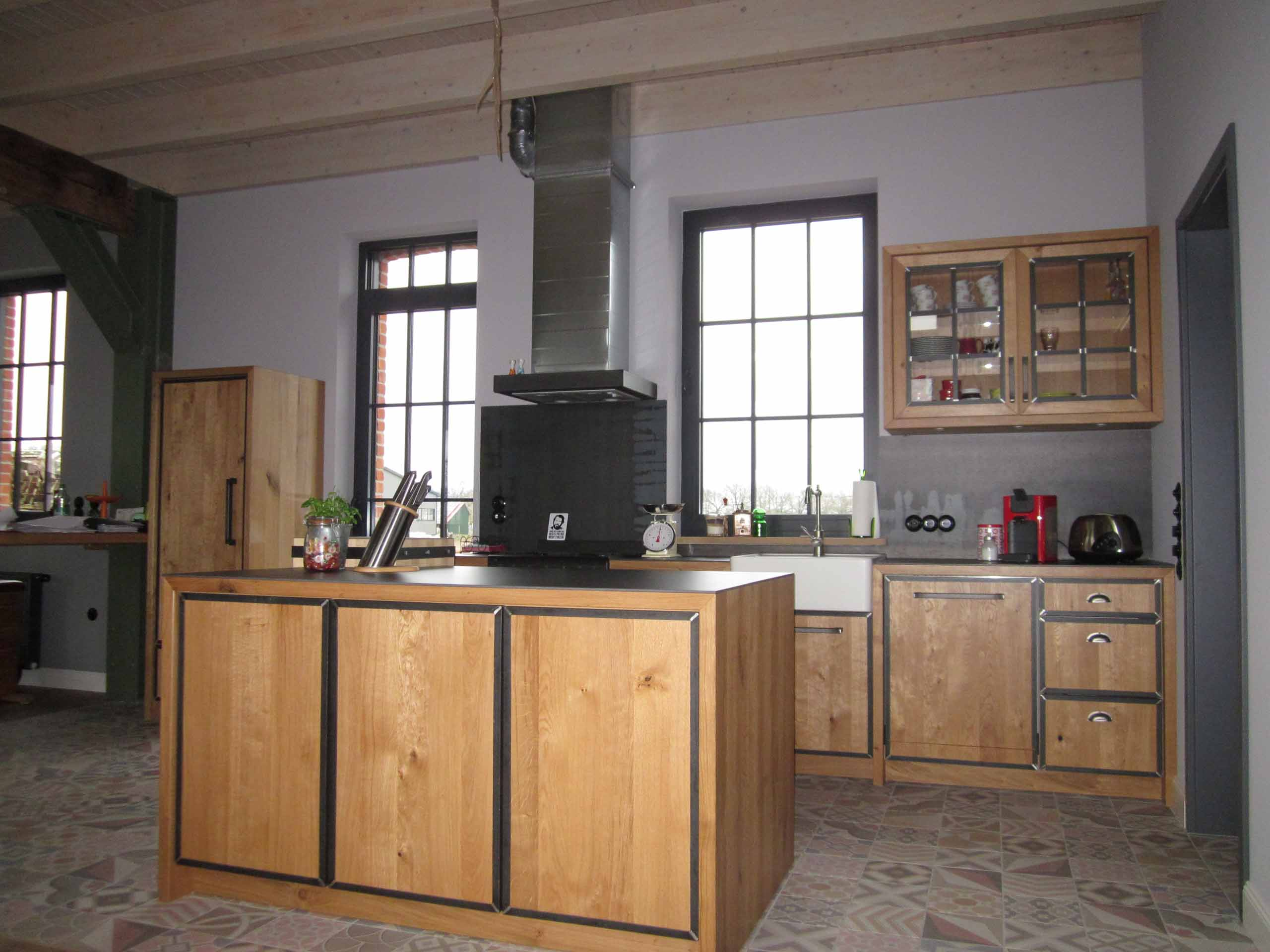 Industrielook Küche - Tischlerei Funke